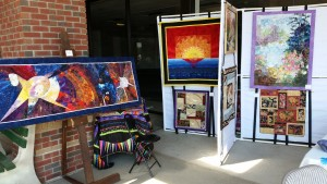 art show booth, June 4, 16